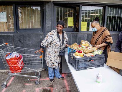 Un banco de alimentos en Ámsterdam, el 4 de junio de 2020.