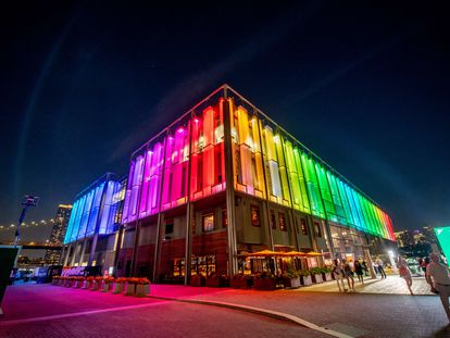 Un edificio de Nueva York iluminado en la celebración del Orgullo LGTBI, el pasado martes.