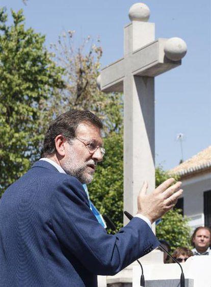 Mariano Rajoy, ayer en Granada.
