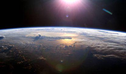 Imagen de la Tierra tomada desde la Estación Espacial Internacional.