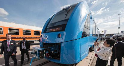 iLint, el tren de Alstom impulsado por pilas de hidrógeno, en una imagen de 2019.
