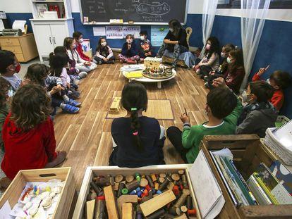 Alumnos del colegio Princesa de Asturias de Elche, pionero en la educación basada en inteligencias múltiples.