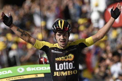 Roglic en la etapa 17ª del Tour de Francia