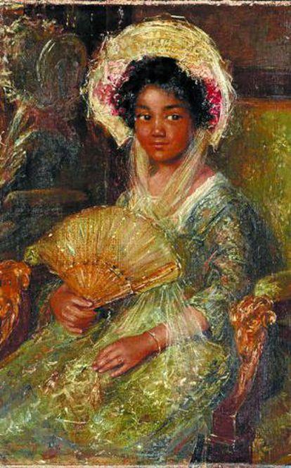 'Jovencita negra' (1895-1922), un óleo del pintor holandés Simon Maris.