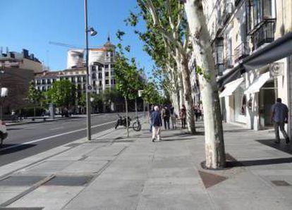 En Serrano, un piso de 100 metros cuadrados cuesta más de un millón de euros.