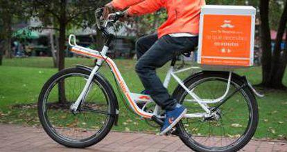 Imagen de Rappi, el servicio de venta a domicilio creado por dos emprendedores colombianos.