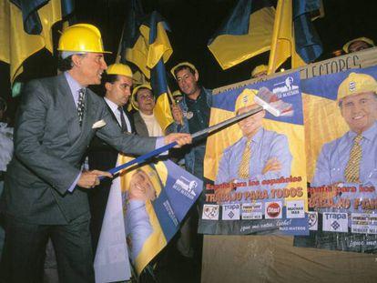 Ruiz-Mateos fundó el Partido del Trabajo y Empleo.