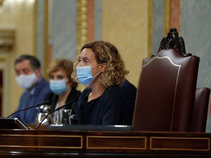 La presidenta del Congreso, Meritxell Batet, este miércoles en el Congreso.