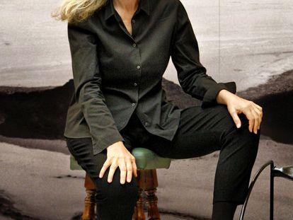 La fotógrafa Annie Leibovitz, en la presentación de la exposición 'Annie Leibovitz: vida de una fotógrafa.1990-2005', en el marco del festival fotográfico PHotoEspaña 2009.