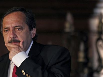 El candidato de la UCR, Ricardo Alfonsín.