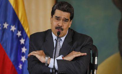 Nicolás Maduro, en una conferencia de prensa en Caracas.
