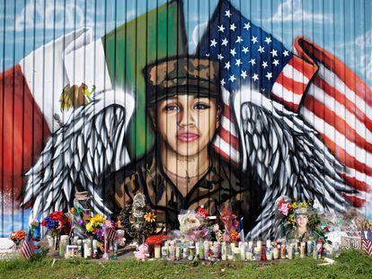 Mural de la soldado Vanessa Guillén en Houston (Texas).