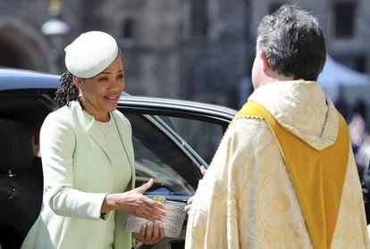 Doria Ragland, a su llegada al templo