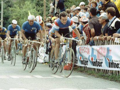 Hinault, durante el Mundial de 1980.
