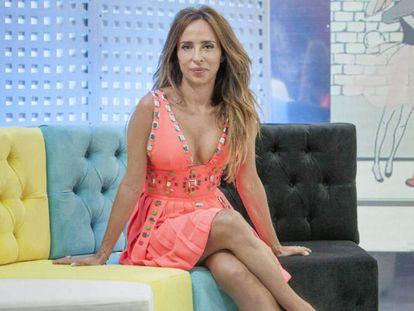 María Patiño en el plató de 'Socialité'.
