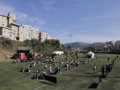 El campo de futbol de Ciutat Meridiana, escenario de espectáculos de La Mercè.