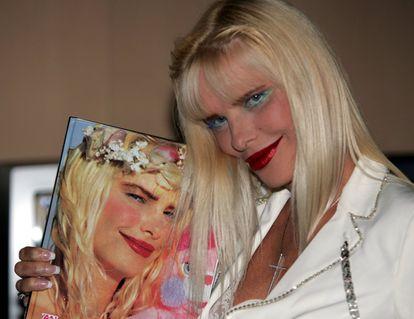 La actriz porno húngara y diputada en Italia por el Partido Radical, Ilona Staller.