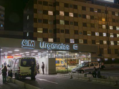 La entrada de urgencias del Hospital de La Paz en noviembre de 2019.