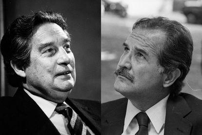 Los escritores Octavio Paz y Carlos Fuentes, en fotos de archivo.