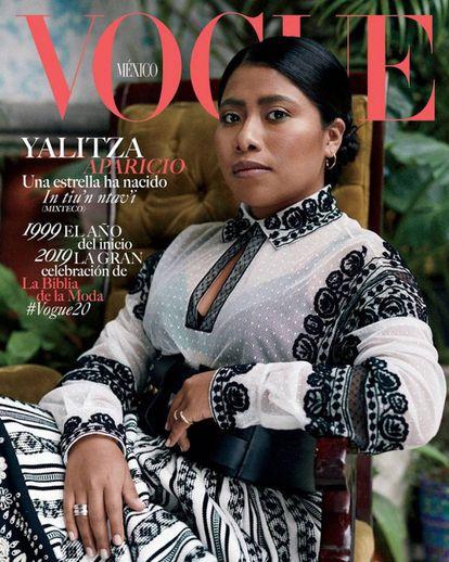 Yalitza Aparicio en la portada de la edición mexicana de Vogue.