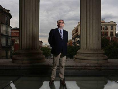 Miguel Falomir, director del museo del Prado, en el Casón del Buen Retiro.