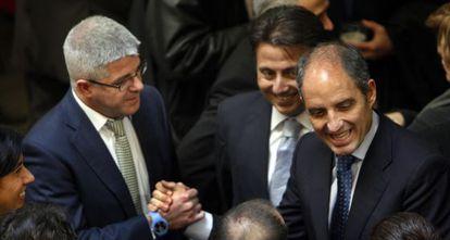 López Jaraba, con el exconsejero de Sanidad Manuel Cervera y el expresidente Franciso Camps.