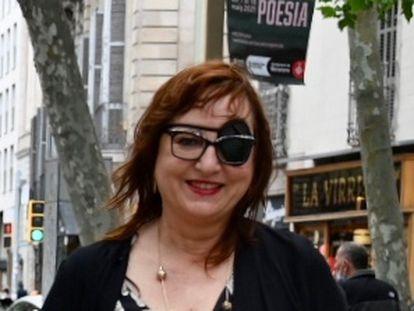Miren Agur Meabe, en La Rambla de Barcelona.