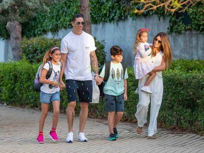 Fernando Torres junto a su familia en Madrid.