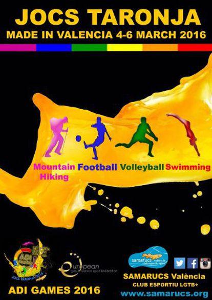 Cartell dels Jocs Taronja 2016.