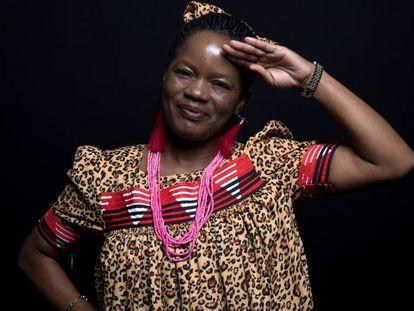 Nelago Kwedhi, primera mujer capitana de barco en Namibia, durante una visita a Madrid el 12 de marzo de 2019.