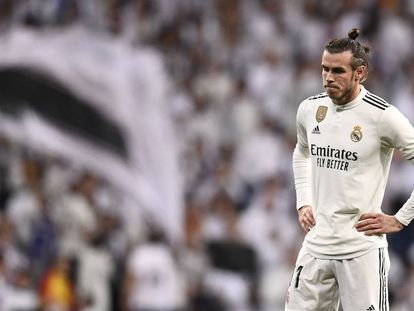 Gareth Bale durante el trascurso del clásico de Liga celebrado el sábado pasado.
