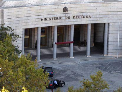 Fachada del Ministerio de Defensa, en el Paseo de la Castellana de Madrid.