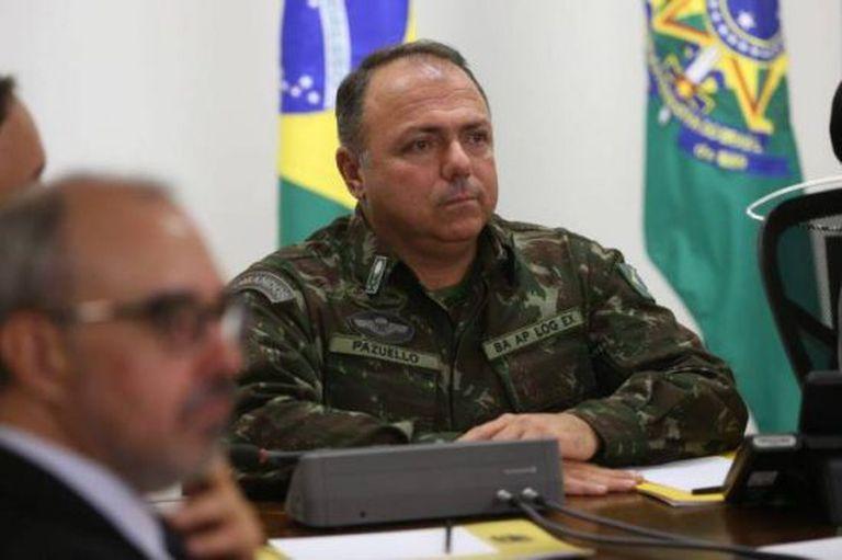 El general Eduardo Pazuello, ministro interino de Salud de Brasil.