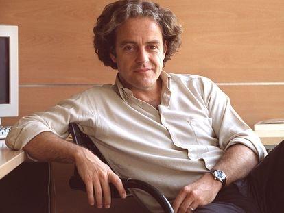 El escritor argentino Juan Forn, en entrevista en Madrid en 2002.