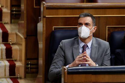 El presidente del Gobierno, Pedro Sánchez, ha defendido este miércoles en el Congreso el Plan de Recuperación,Transformación y Resiliencia para hacer frente a la crisis del coronavirus.