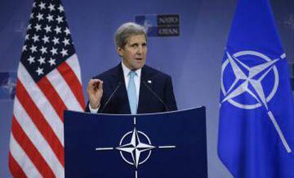 El secretario de Estado estadounidense, John Kerry, en Bruselas.