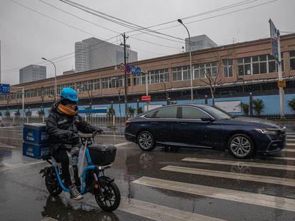 El mercado de Huanan, en Wuhan, uno de los primeros lugares donde se detectó el coronavirus.
