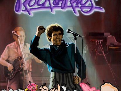 Acrílico sobre lienzo. Inspirado en Miguel Ríos, 'Rock & Ríos', Polydor (1982).