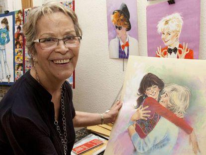 La dibujante Purita Campos en 2010.