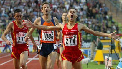 El gran momento de Penti, cuando se proclama campeón de Europa de 3.000 metros obstáculos en Múnich 2002