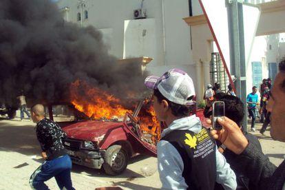 Violentas protestas el viernes en Sidi Bouzid (Túnez) por la cancelación de los resultados de una lista.