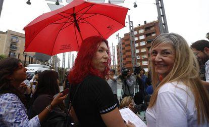 Integrantes del sindicato de prostitutas en septiembre de 2019.