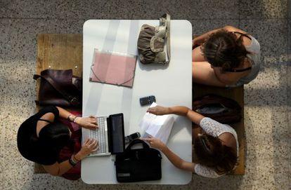 Alumnos de la Universidad Complutense de Madrid.