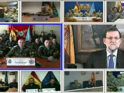 """Rajoy da una orden a los militares en el exterior: """"Vuelvan sanos y salvos"""""""