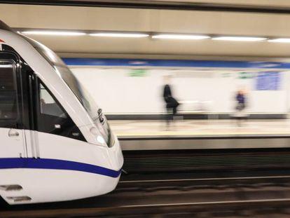 Un convoy del metro, en una imagen de archivo.