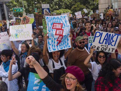 Manifestación contra el cambio climático en septiembre en Nueva York.
