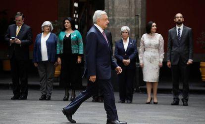 López Obrador el pasado 21 de octubre en Palacio Nacional, en Ciudad de México.