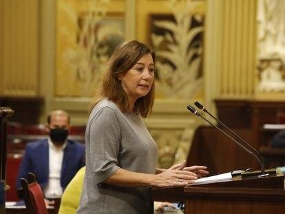 La presidenta del Govern, Francina Armengol, en el debate de política general 2020.