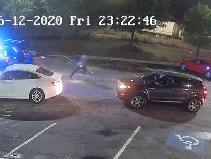 Secuencia del vídeo sobre la detención y muerte de Rayshard Brooks.