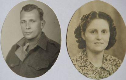 Frank y Joyce en su juventud.